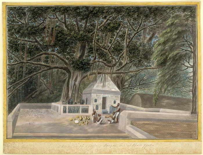 temple beneath the bodhi tree bodh gaya c1810